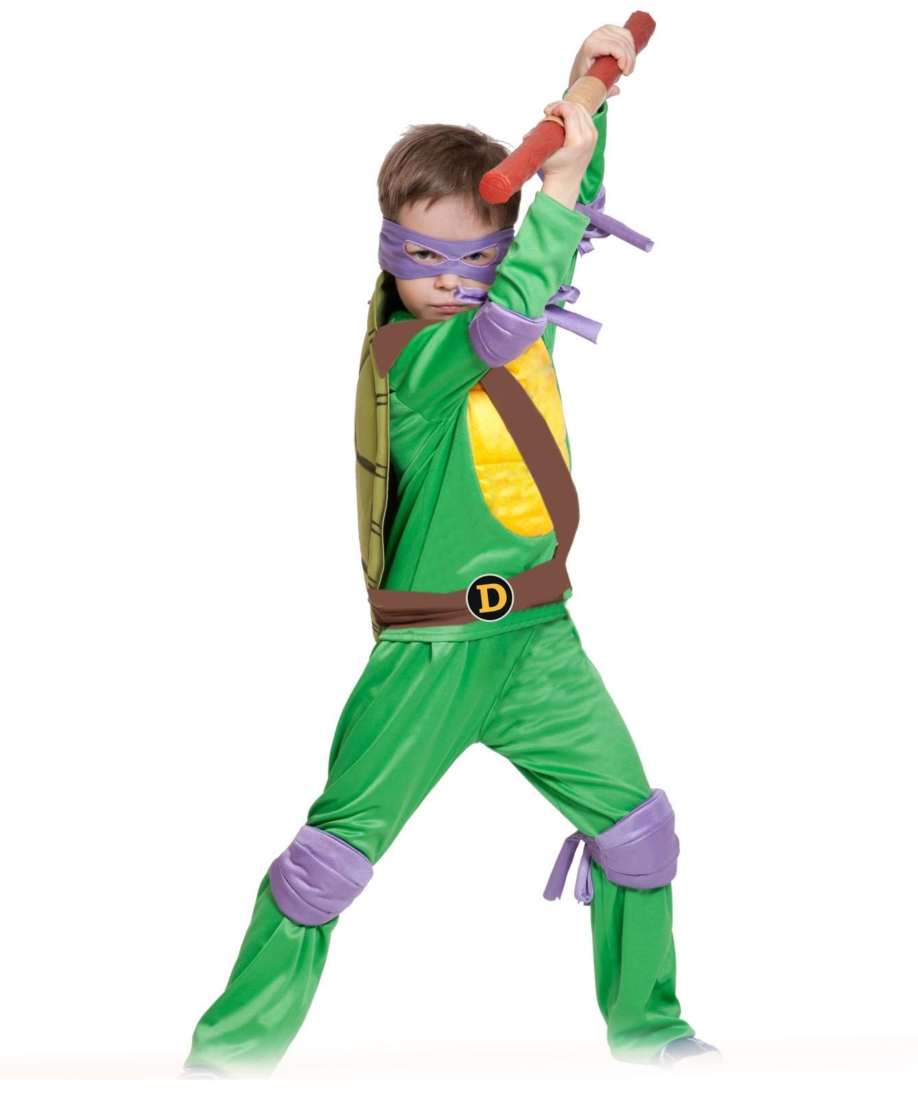 Детский костюм Ниндзя Черепашка Донателло (34-36) карнавальный костюм черепашка ниндзя р30