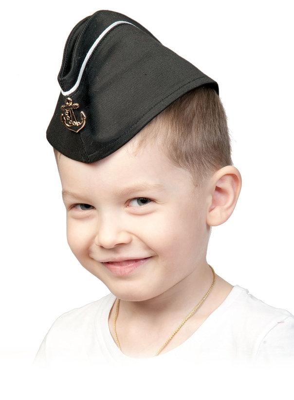 Детская пилотка ВМФ с кантом (UNI) -  Униформа