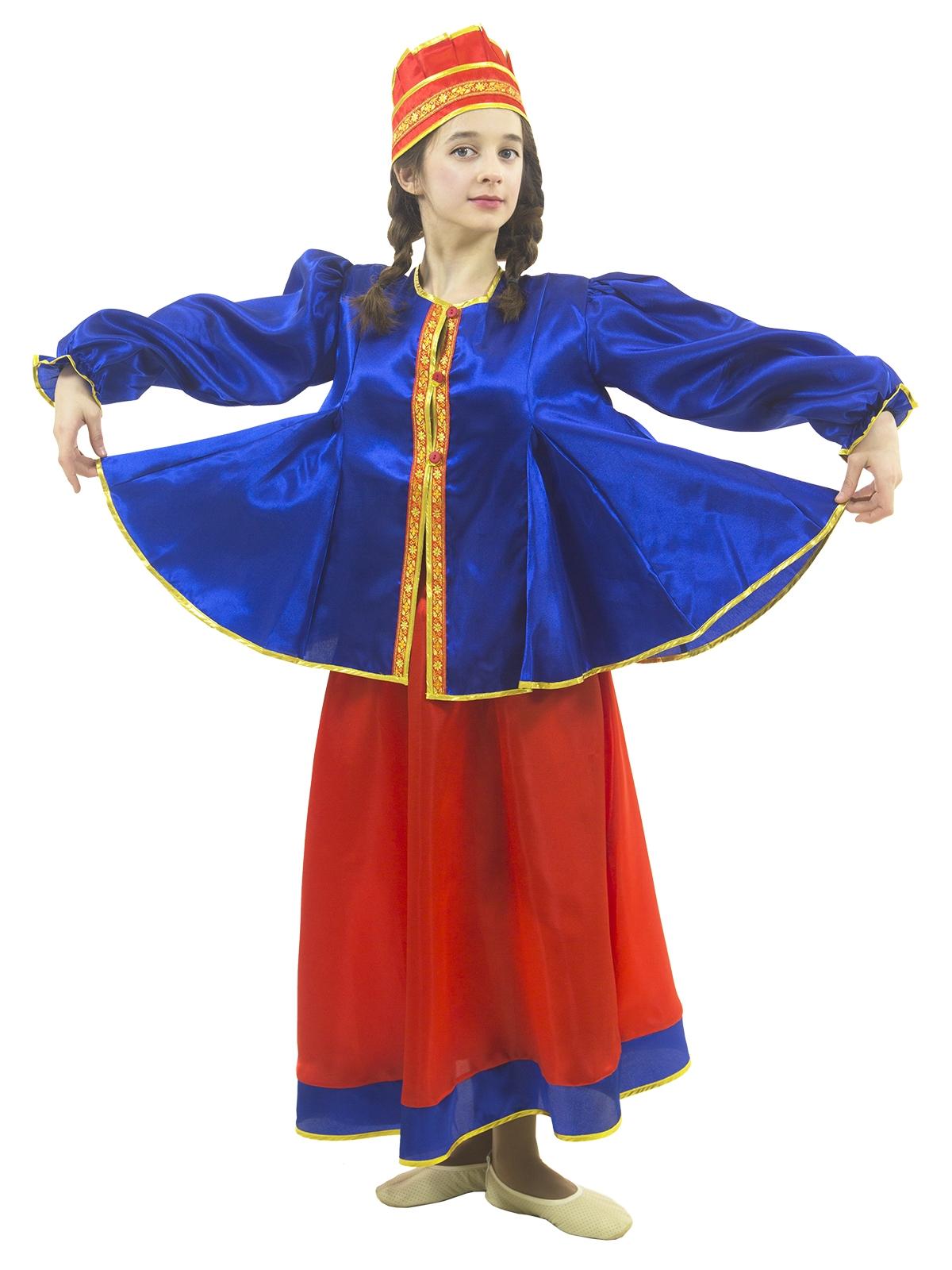 Подростковый костюм Масленицы (36-38) -  Национальные костюмы