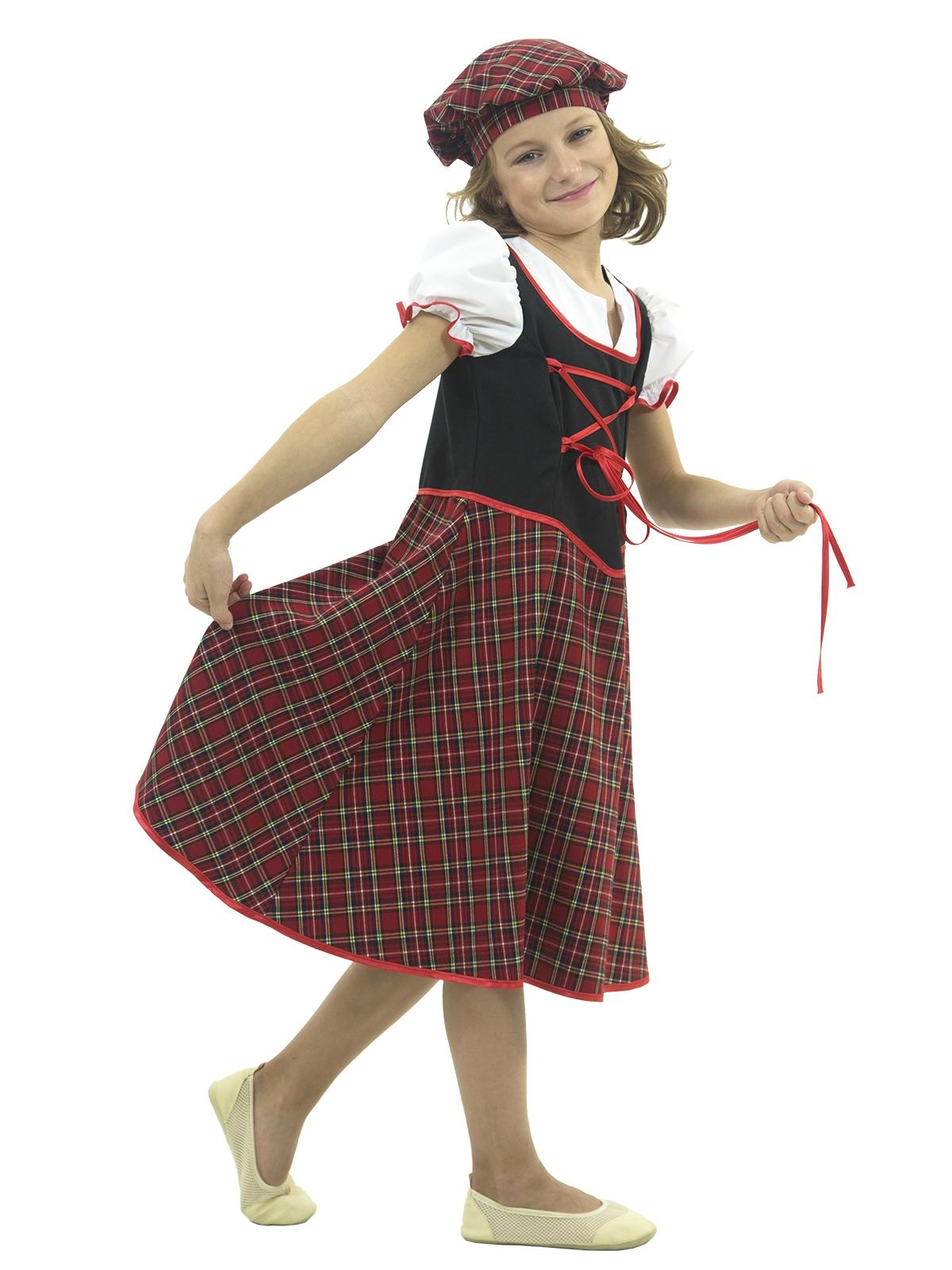 Детский костюм Шотландки (32-34) детский костюм озорного клоуна 34