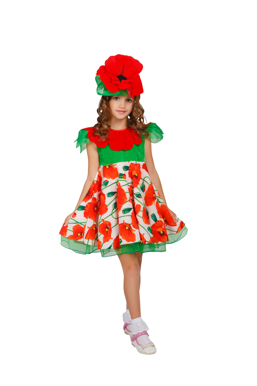 Детский костюм Цветка Мака (28-30) -  Остальные костюмы