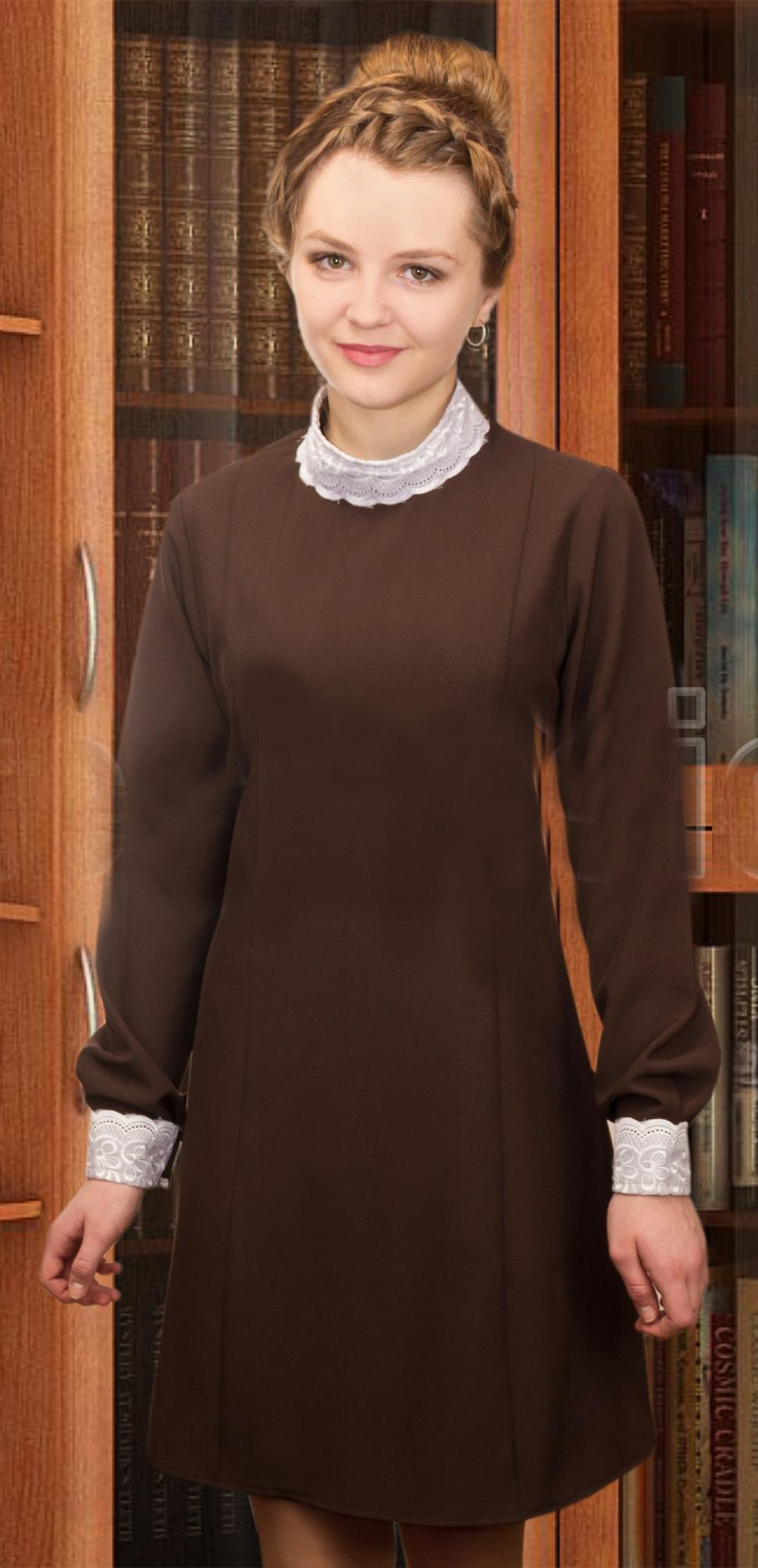 Коричневое платье Школьницы (32) -  Школьницы и студентки