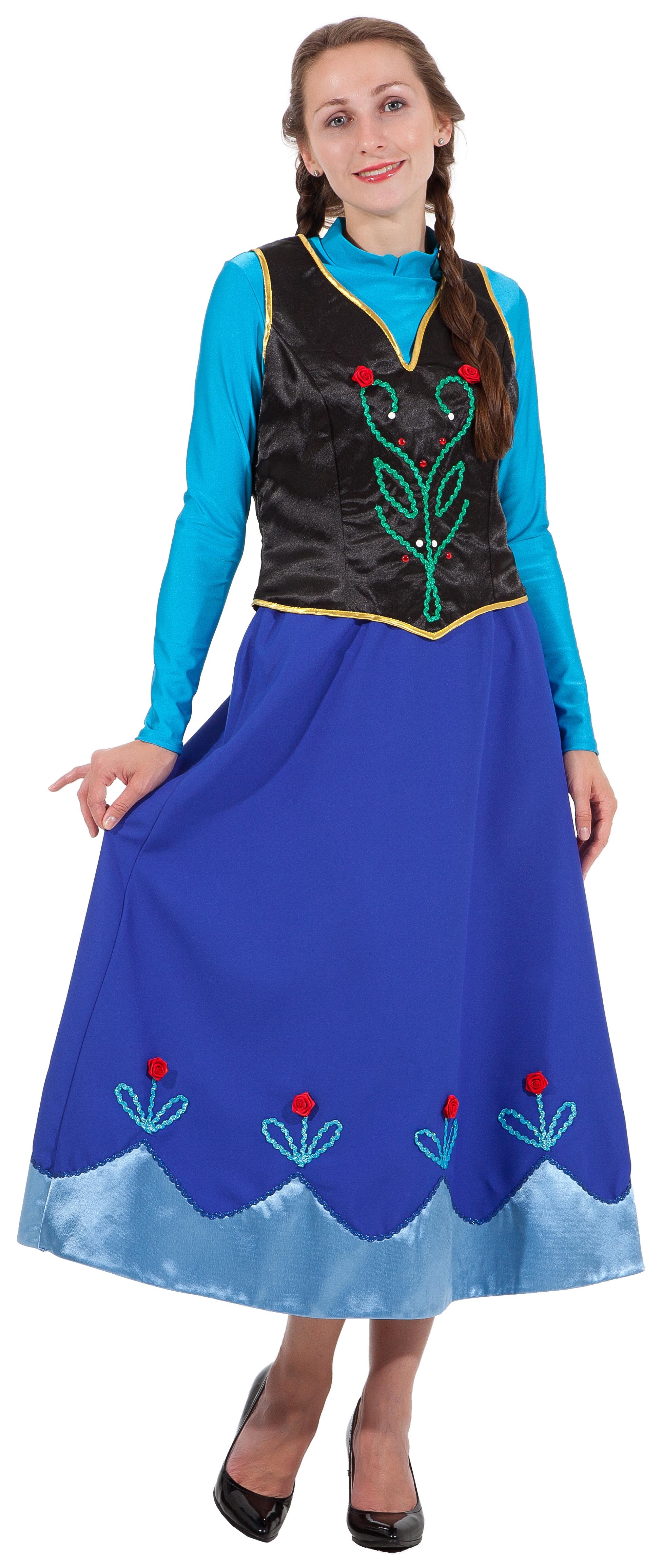 Взрослый костюм Принцессы Анны (48-50) -  Сказочные герои