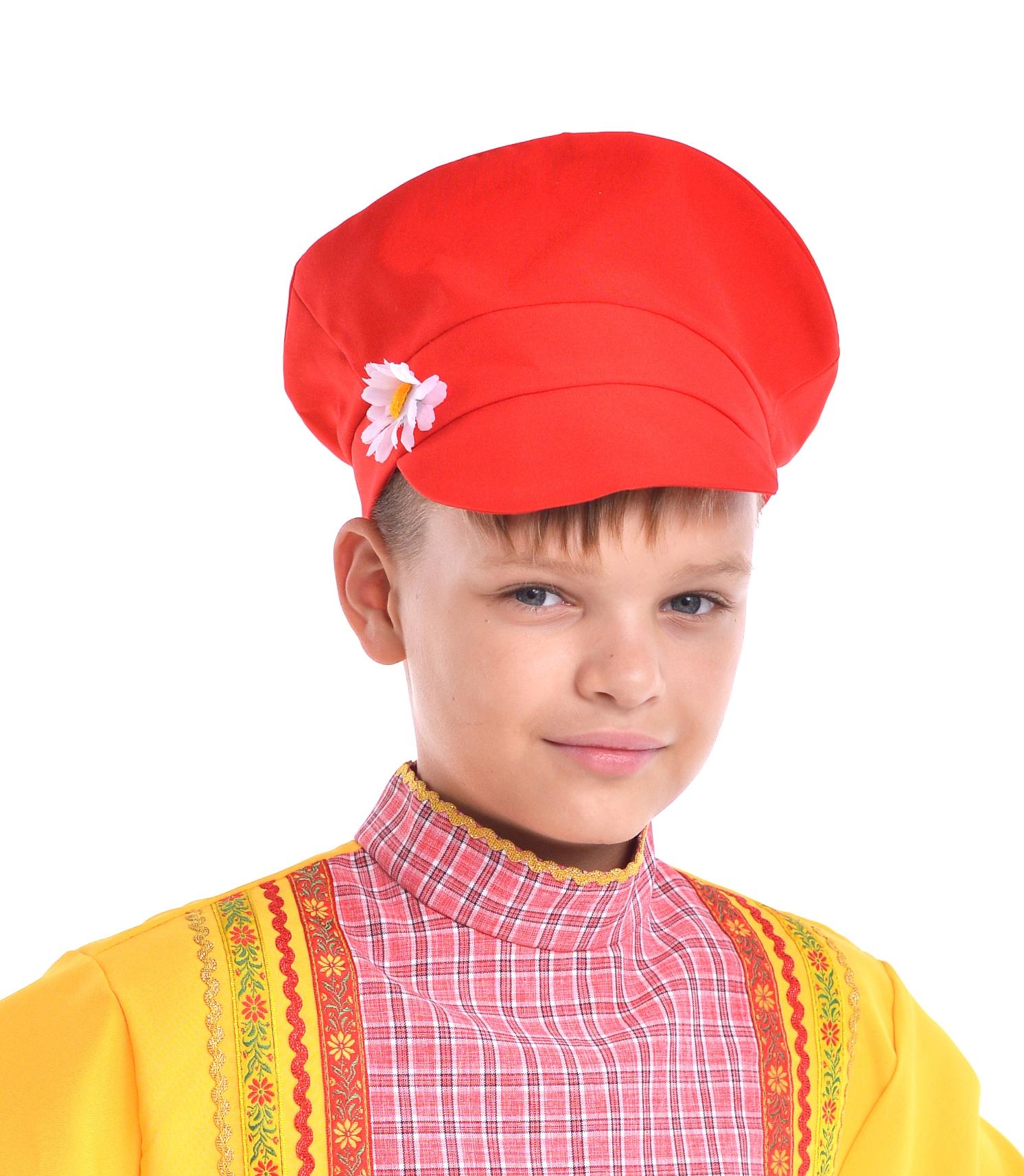 Детский красный картуз (UNI) -  Шляпы карнавальные