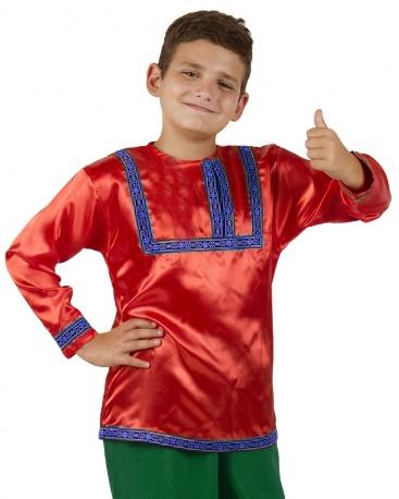 Красная русская рубаха (36-38) -  Национальные костюмы